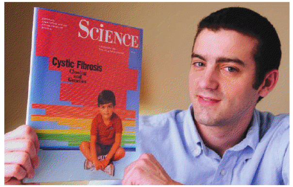 Danny Bessette in 2009 holding the magazine that featured him on the cover as a child. (Photo: Steve Barrett/Science)