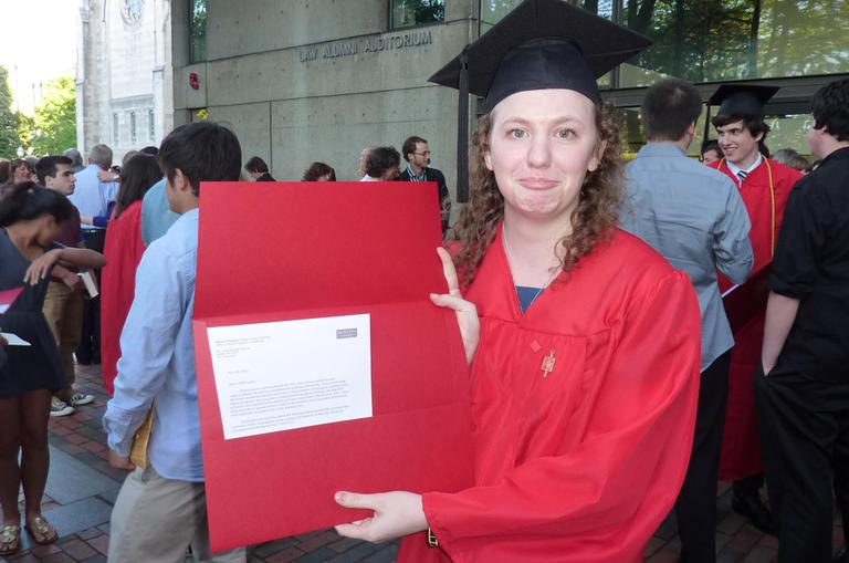 Annie Ropeik at her graduation ceremony at Boston University in 2012. (Courtesy: Annie Ropeik)