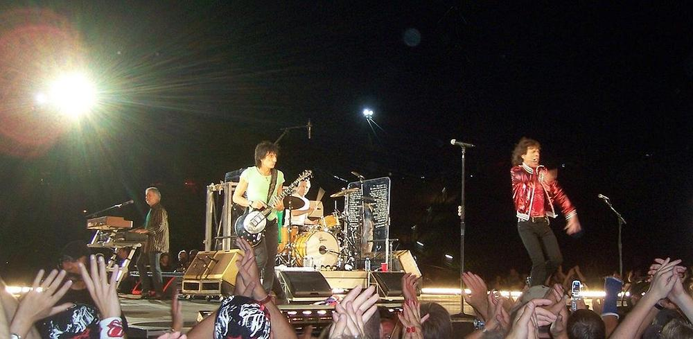 The Rolling Stones in 2006 (Charliecorgan via Wikimedia Commons)