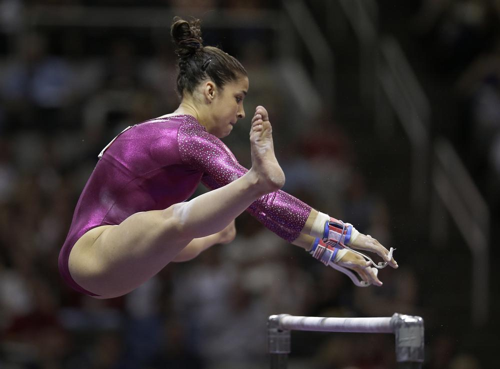 The U.S. women won gold and Aly Raisman is a national star. But in her hometown of Needham, Mass., residents are over the moon. (AP)