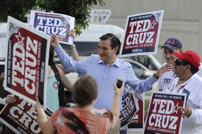 Former Texas Solicitor General Ted Cruz, center. (AP)