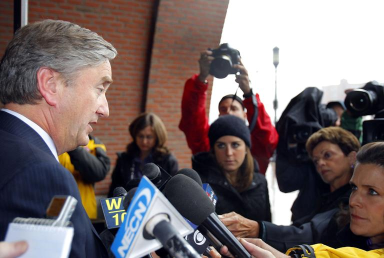 Rep. John Tierney faces the media in 2012. (AP)
