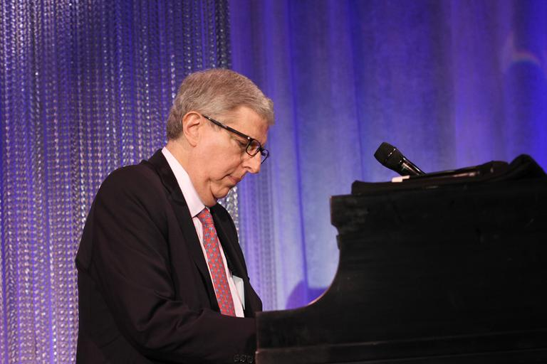 In this photograph taken by AP Images for Cedars-Sinai Medical Center, Marvin Hamlisch is seen at the Cedars-Sinai Board of Governors Gala at The Beverly Hilton Hotel in Beverly Hills, Calif. on Tuesday, November 8, 2011. (AP)