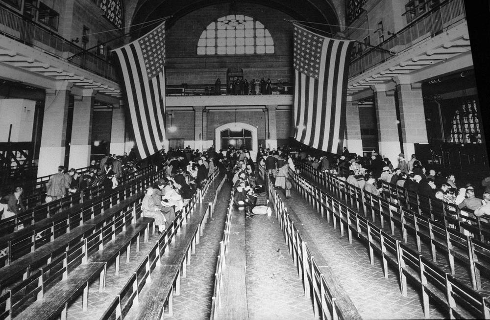 This is a 1924 photo of the registry room at New York harbor's Ellis Island, which was a gateway to America for millions of immigrants. (AP File Photo)