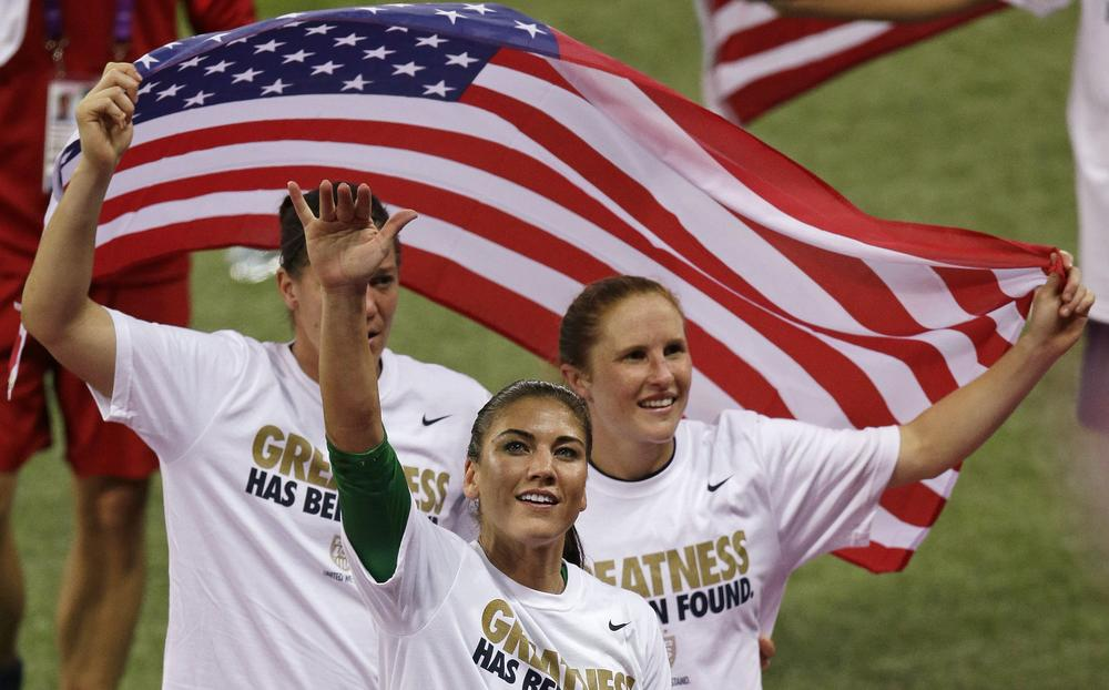 As part of his Olympic vacation, Bill Littlefield watched from the comfort of a London pub as the U.S. women won gold in soccer. (AP)