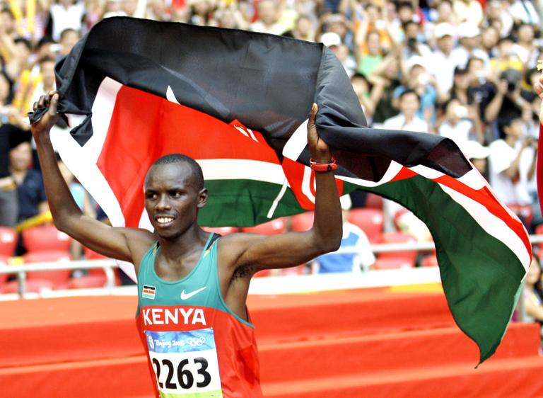 Kenya's Sammy Kamau Wanjiru won the gold during the men's marathon at the Beijing 2008 Olympics in Beijing. Wanjiru died in Kenya last year in an alcohol-related accident. (AP)
