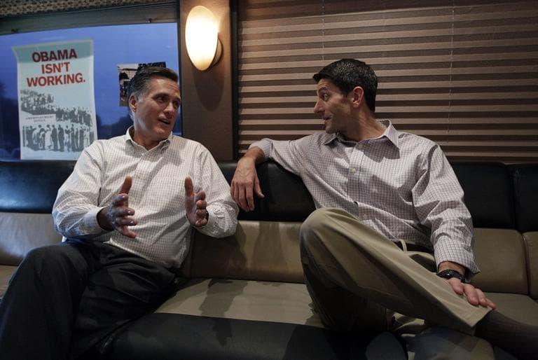 Mitt Romney, left, and his vice presidential pick, Rep. Paul Ryan (AP)
