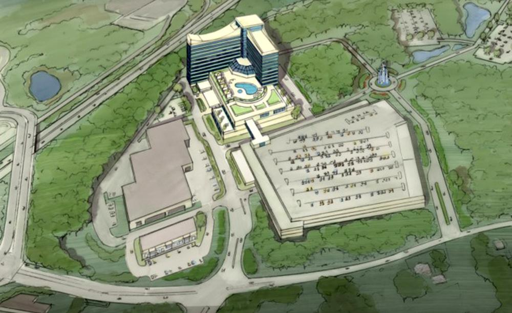 An artist rendering of the resort casino proposed in Taunton by the Mashpee Wampanoag tribe. (AP)