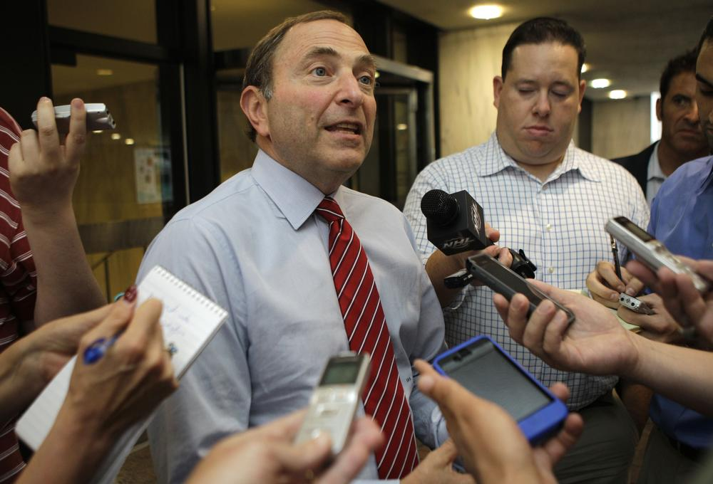 NHL Commissioner Gary Bettman could soon see his league in its second work stoppage in a decade. (AP)