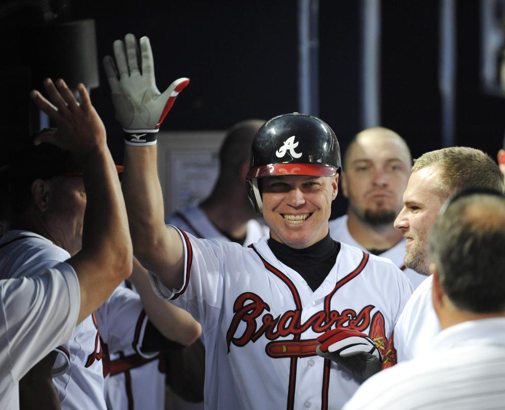 Chipper Jones isn't nearly as prone to rhyming as Only A Game host Bill Littlefield. (AP)