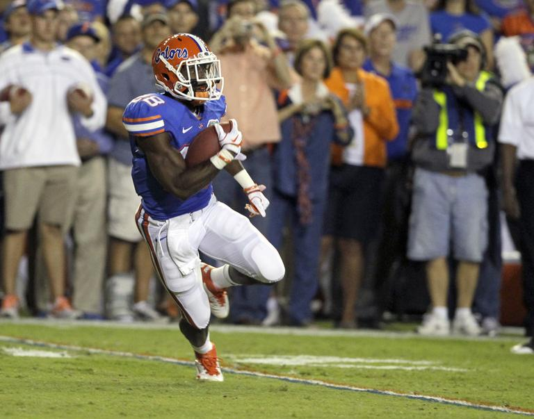 Florida running back Jeff Demps during a college football game in 2011. (AP)