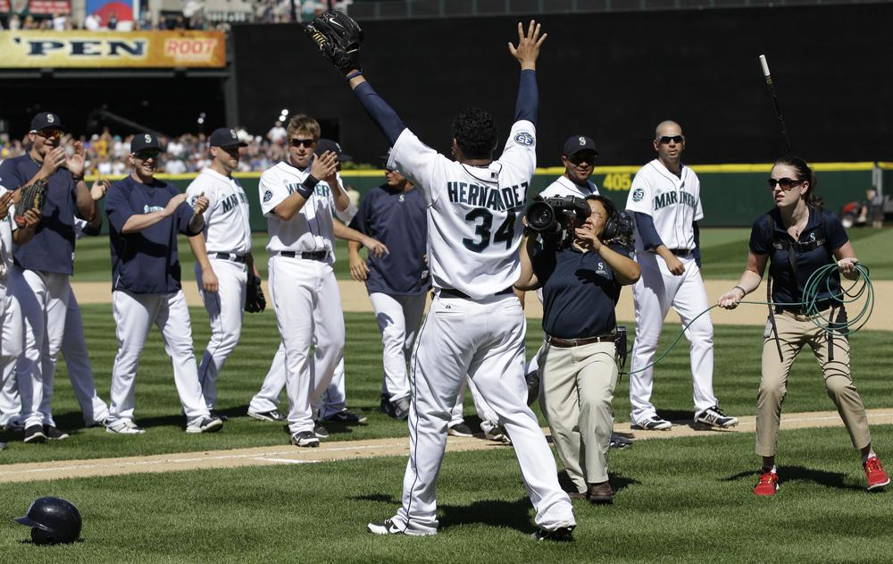 Felix Hernandez pitched the third perfect game of the MLB season this week, a feat not lost on Charlie Pierce. (AP)