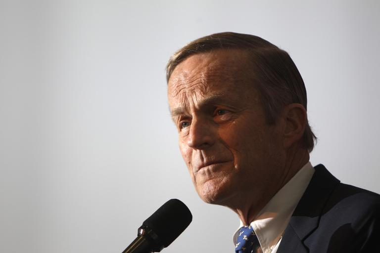 """Missouri Senate candidate Todd Akin is facing criticism after his comment that women's bodies can prevent pregnancy in cases of """"legitimate rape."""" (AP)"""
