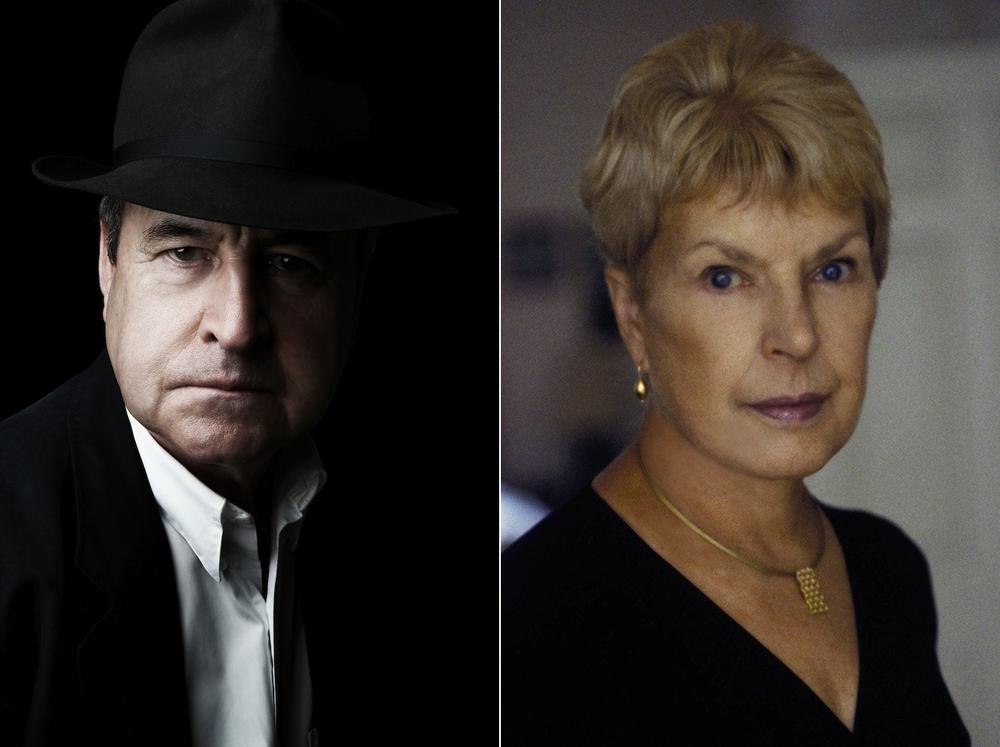John Banville, AKA Benjamin Black, left, and Ruth Rendell, AKA Barbara Vine.  (Barry McCall, Jerry Bauer)