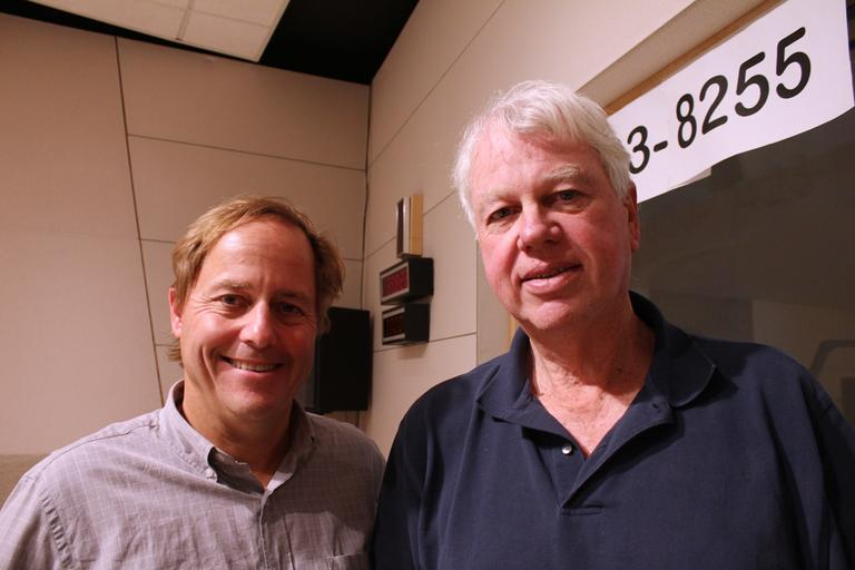 Anthony Brooks and Bob Ryan. (WBUR/Nate Goldman)