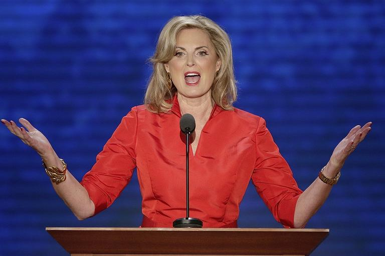 Ann Romney, wife of U.S. Republican presidential candidate Mitt Romney, addresses the Republican National Convention in Tampa, Fla., on Wednesday. (AP/J. Scott Applewhite)