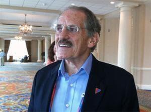 Romney adviser Ron Kaufman, in the Marriott Waterfront in Tampa, Fla. (Lisa Tobin/WBUR)