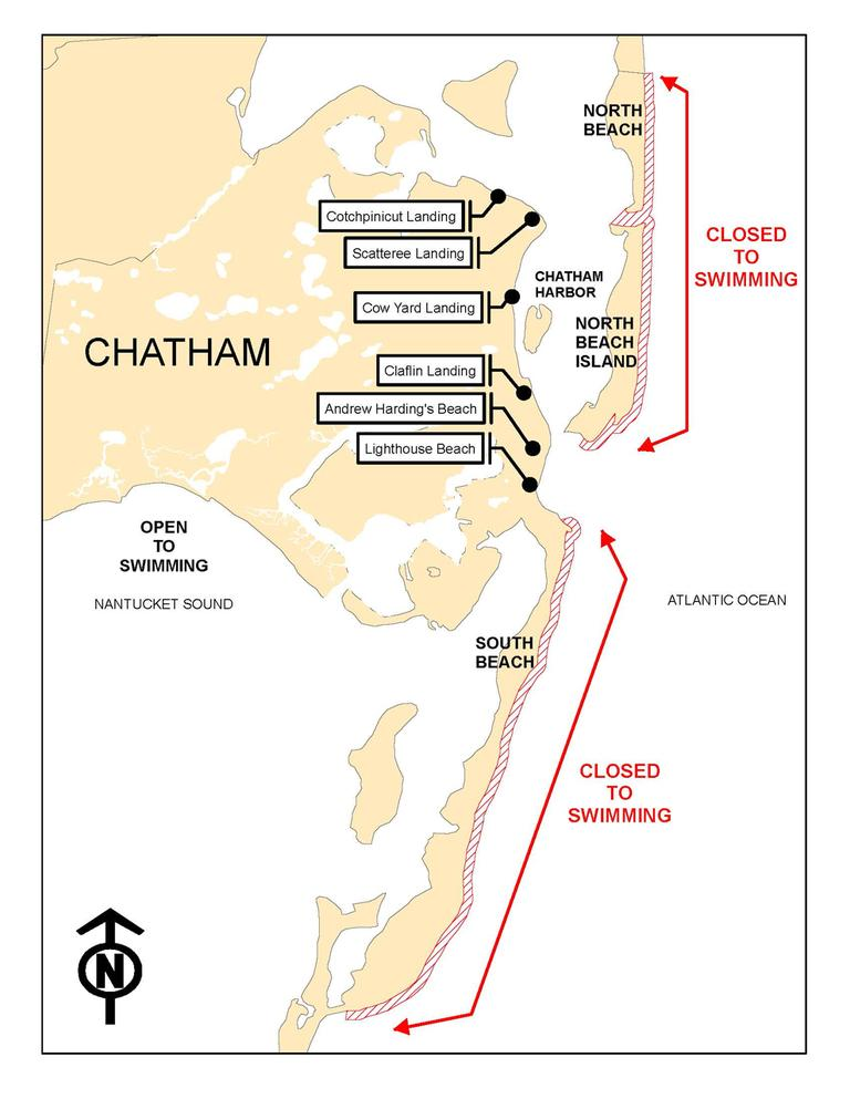 (Click to enlarge. Map courtesy of the town of Chatham)