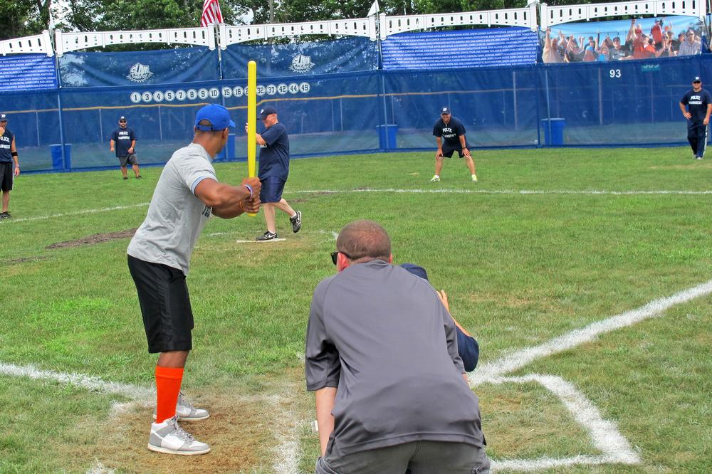 Little Yankee Stadium made its debut on August 11 at the SLAMDiabetes Wiffle Ball tournament in North Providence, R.I. (Doug Tribou/Only A Game)