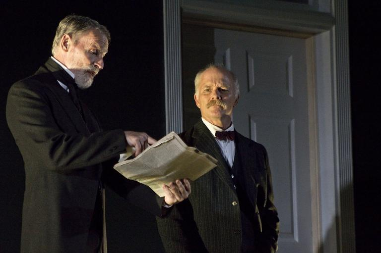 "Walter Hudson and Dan Butler in""Edith."" (Courtesy Christy Wright/Berkshire Theater Group"