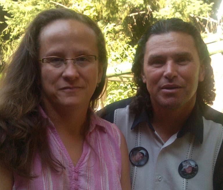 Melida and Carlos Arredondo at their home. (Here & Now/Alex Ashlock)