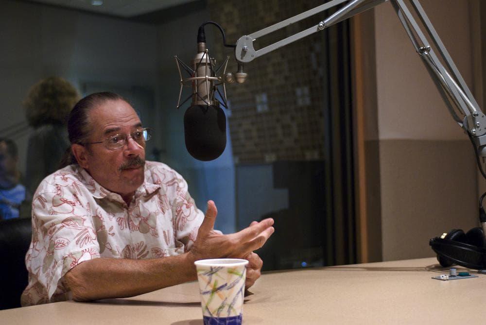 The Boston Phoenix's publisher Steven Mindich joins Radio Boston in studio. (Josh Berlinger for WBUR)