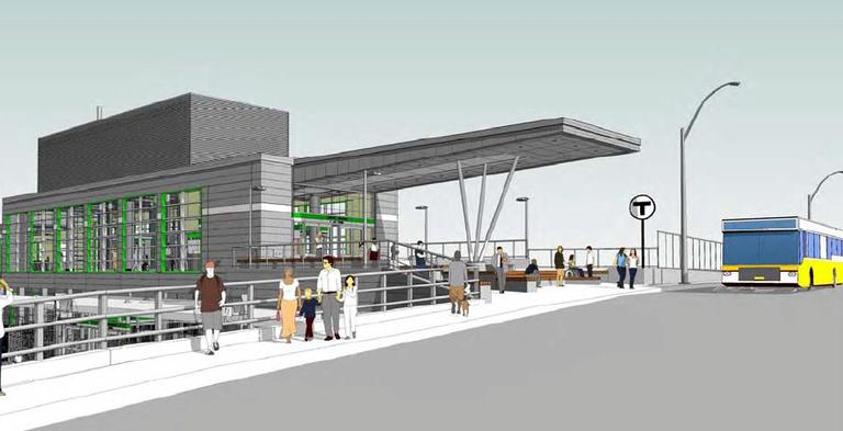 Union Square MBTA station renderings. (City of Somerville)