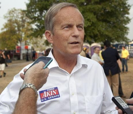 Rep. Todd Akin of Missouri last week at a state fair (Orlin Wagner/AP)
