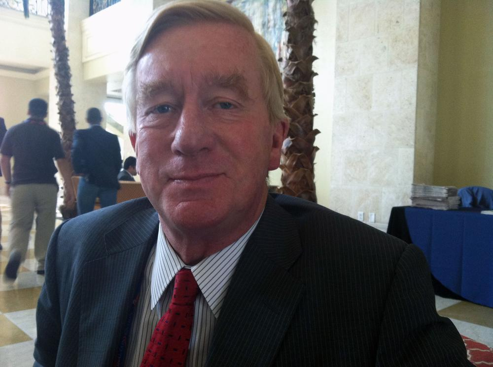 Former Massachusetts Gov. William Weld at the Marriott Waterside in Tampa, Fla. (Lisa Tobin/WBUR)