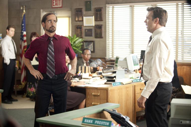 """Colin Farrell, left, and Jason Sudeikis are shown in a scene from """"Horrible Bosses."""" (AP/Warner Bros. Pictures)"""