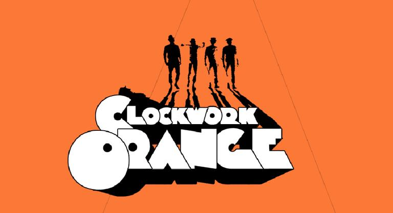 A poster from the 1971 art film adaptation of Anthony Burgess's 1962 novella A Clockwork Orange.