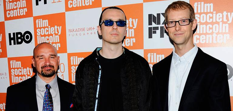 """The """"West Memphis Three"""", from left, Jessie Misskelley Jr., Damien Echols and Jason Baldwin at the New York Film Festival 2011 in New York. (Photo: AP)"""