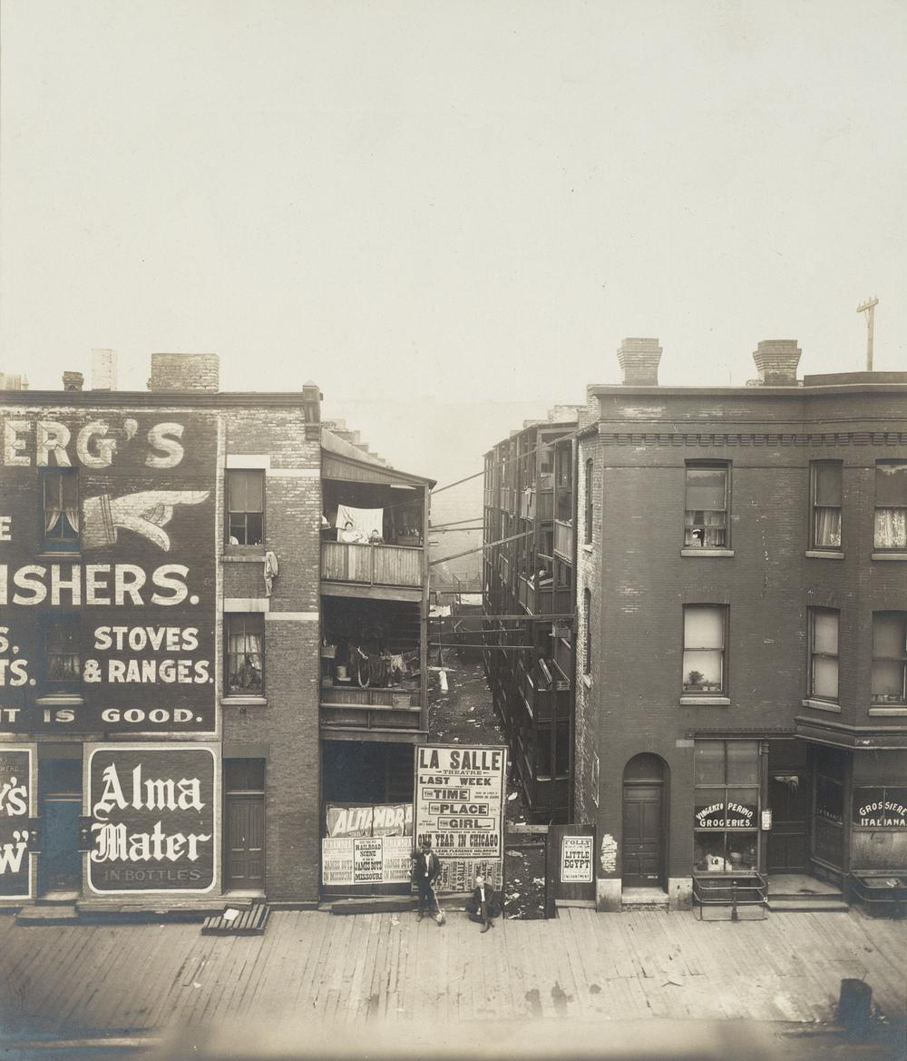 """Social Settlements: United States. Illinois. Chicago. """"Francis E. Clark Settlement"""": Francis E. Clark Settlement, Chicago, Ill.: In the Neighborhood, c. 1908. Gelatin silver print. Harvard Art Museums/Fogg Museum, Transfer from the Carpenter Center for the Visual Arts, Social Museum Collection, 3.2002.298. (Courtesy of Harvard Art Museums)"""