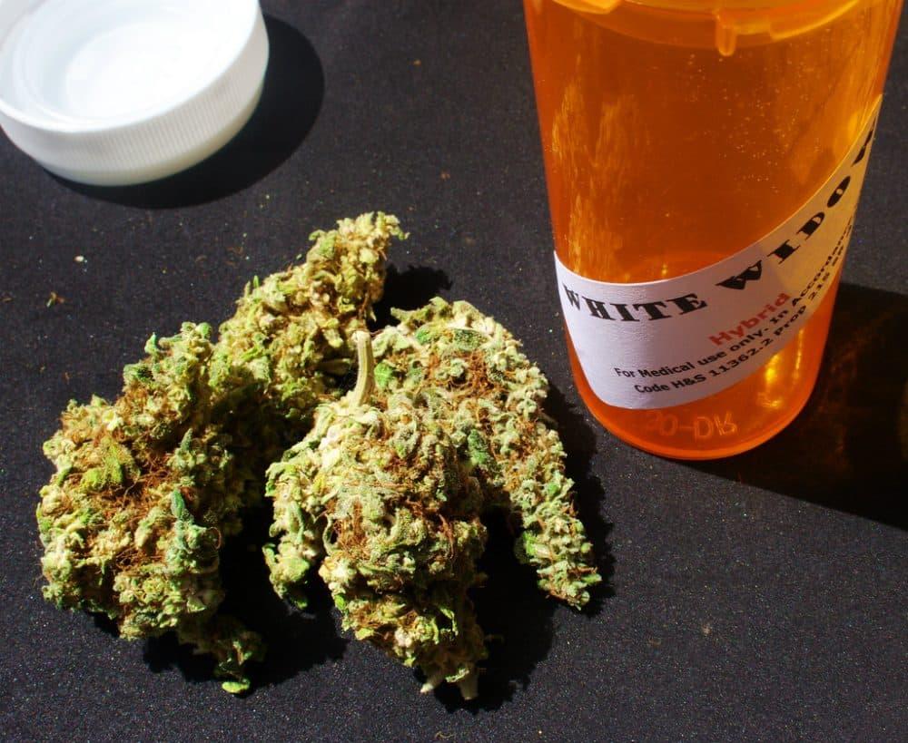 White widow, a strain of marijuana, sold as medical marijuana in California. (eggrole/Flickr)