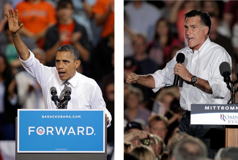 President Barack Obama and Republican presidential candidate Mitt Romney both campaigned in the battleground state of Ohio in September. (AP)