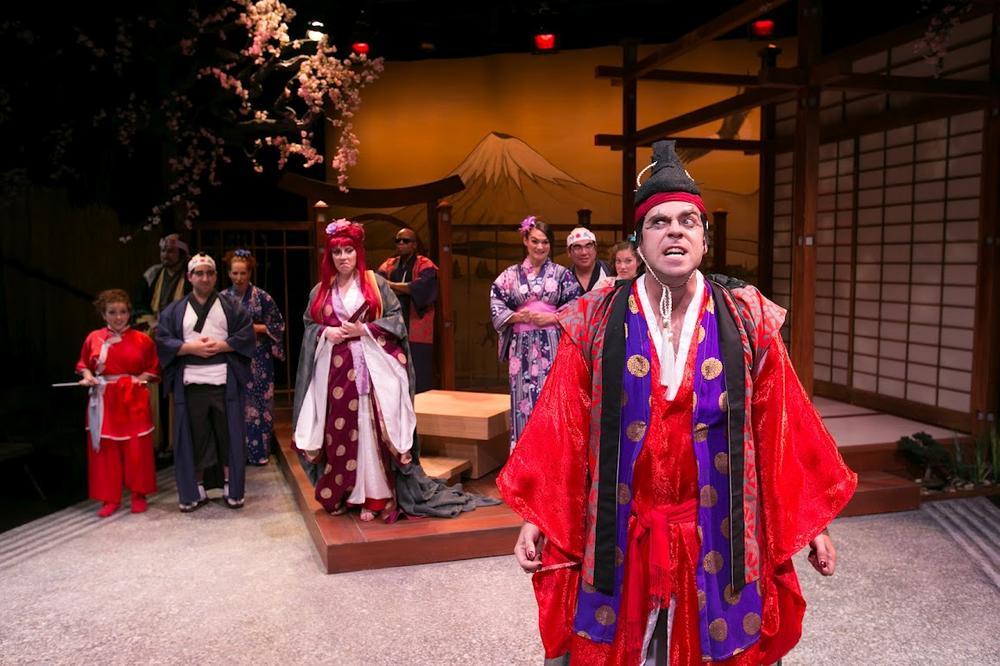 "Timothy John Smith as ""The Mikado"" at the Lyric Stage Company of Boston. (Photo by Mark S. Howard)"