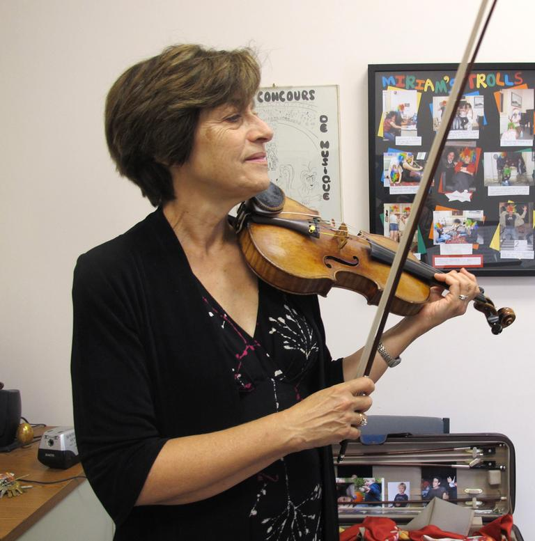 Miriam Fried, a violinist and teacher at the New England Conservatory (Andrea Shea/WBUR)