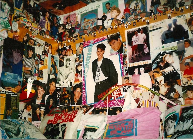 A bedroom-wall tribute to NKOTB. (Courtesy Katie White)
