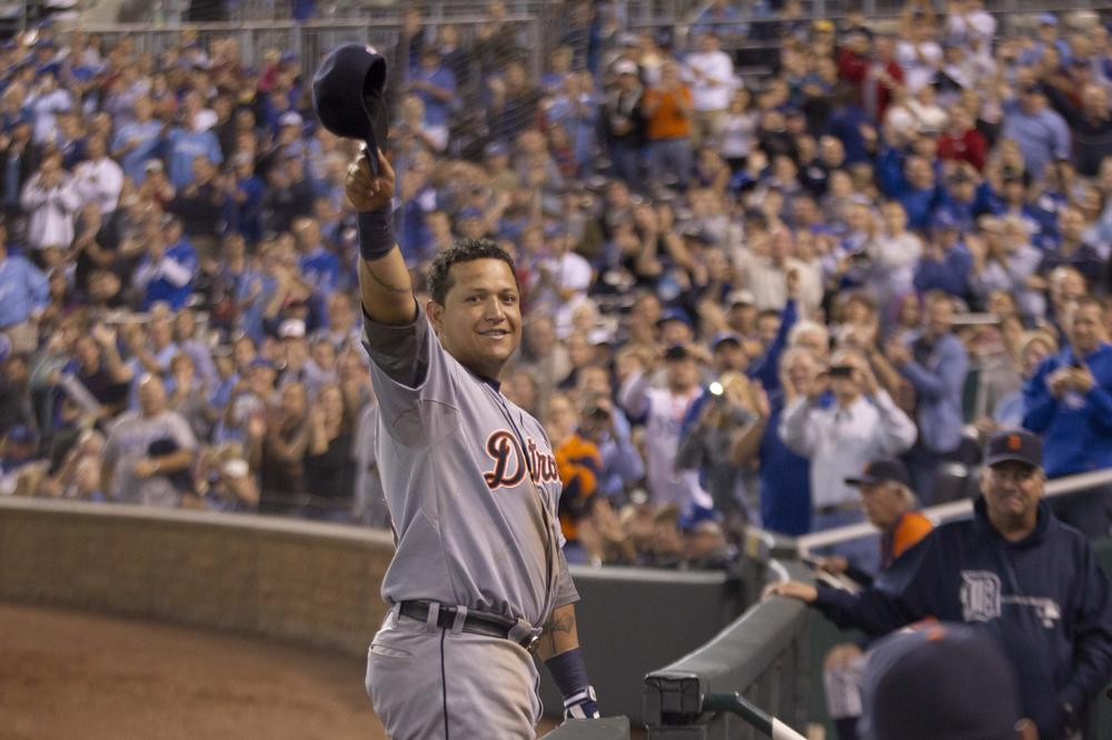 Detroit Tigers' Miguel Cabrera became the first player since 1967 to win a Triple Crown. (AP/Orlin Wagner)