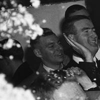 Congressman John F. Kennedy is showered with confetti as he enters his Boston headquarters on Nov. 5, 1952 leading in his contest with Henry Cabot Lodge, Jr. for the latter''s seat in the U.S. Senate. (AP Photo/Frank Curtain)