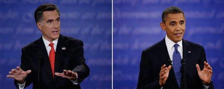 President Barack Obama and Republican presidential nominee Mitt Romney held their first debate in Denver in October. (AP)
