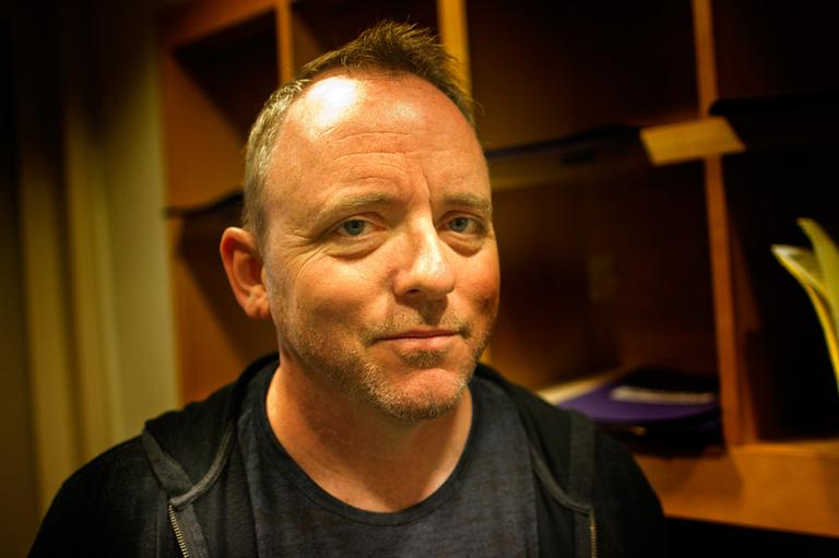 "Dennis Lehane's new gangster novel is ""Live By Night."" (Jesse Costa/WBUR)"