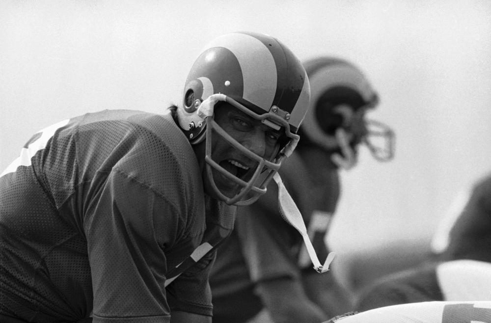 Joe Namath will always be a Jet, but he spent his last season with Los Angeles, often on the Rams' bench. (AP)