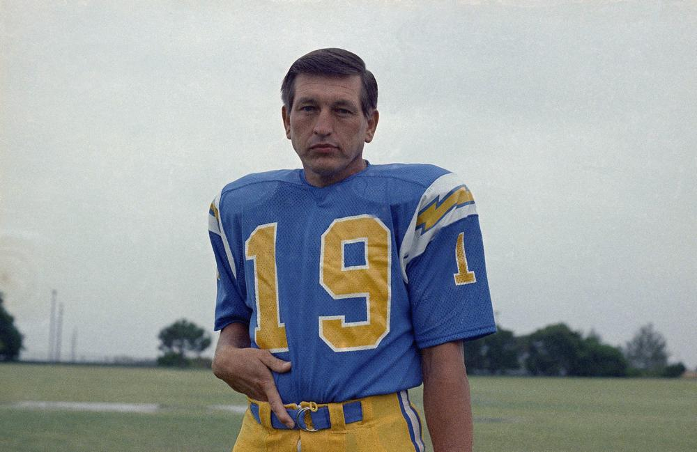 Baltimore Colts legend Johnny Unitas ended his career in 1973 with the San Diego Chargers. (AP)