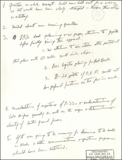 An excerpt of the newly released RFK papers (JFK Library & Museum)