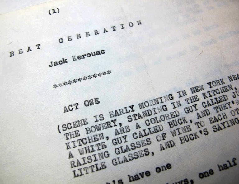 """""""The Beat Generation"""" script (Andrea Shea/WBUR)"""