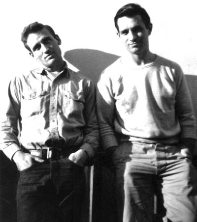 Jack Kerouac, right, and Neal Cassady (Courtesy Merrimack Repertory Theatre)