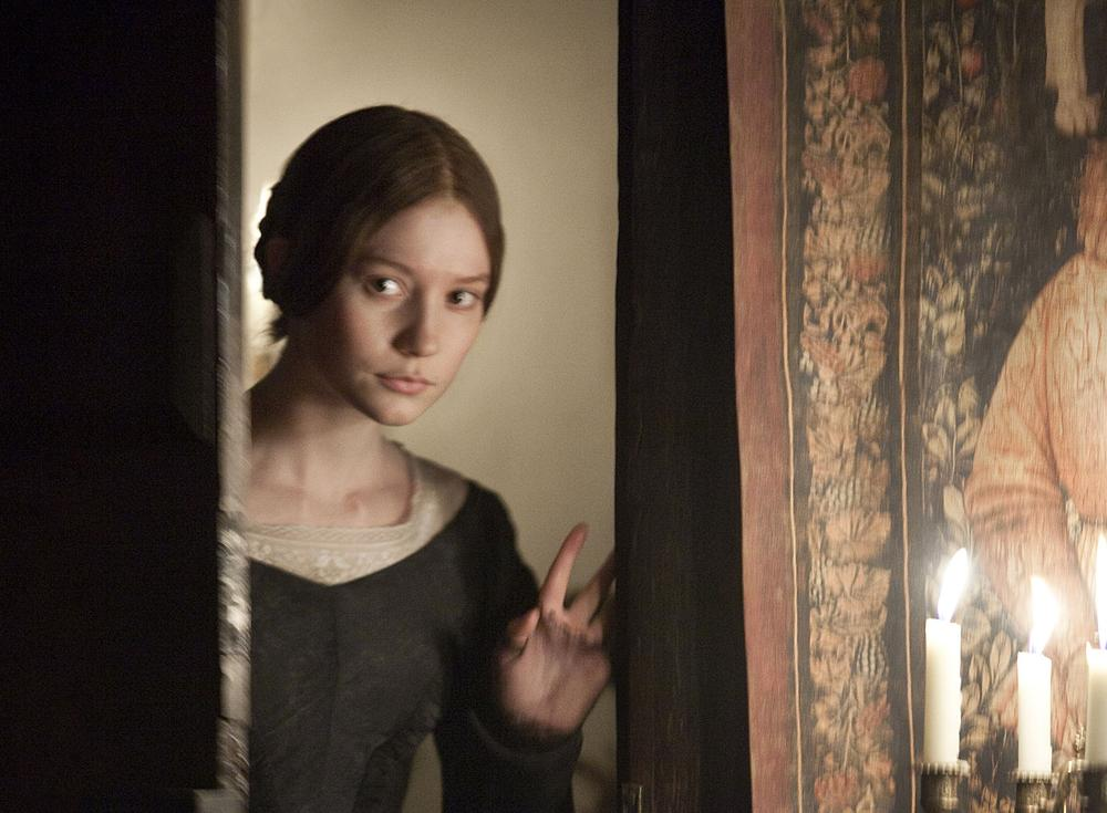 """In this publicity image released by Focus Features, Mia Wasikowska is shown in a scene from the 2010 film adaptation of """"Jane Eyre."""" (AP Photo/Focus Features)"""