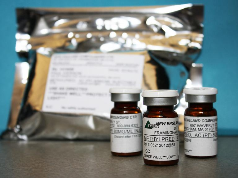 Vials of the injectable steroid product made by New England Compounding Center implicated in a fungal meningitis outbreak. (Minnesota Department of Health/AP)