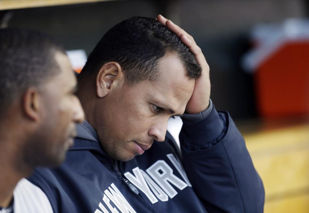The New York Yankees' Alex Rodriguez spent much of the series against the Detroit Tigers on the bench. The Yankees never led during the four-game sweep. (Paul Sancya/AP)